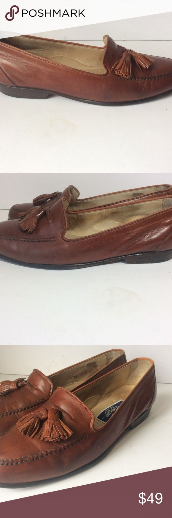 Bragano by Cole Haan Mens Shoes Brown Leather Bragano by Cole Haan Mens Shoes Brown Leather Tassel Loafers - Mens Size 7M Cole Haan Shoes Loafers & Slip-Ons