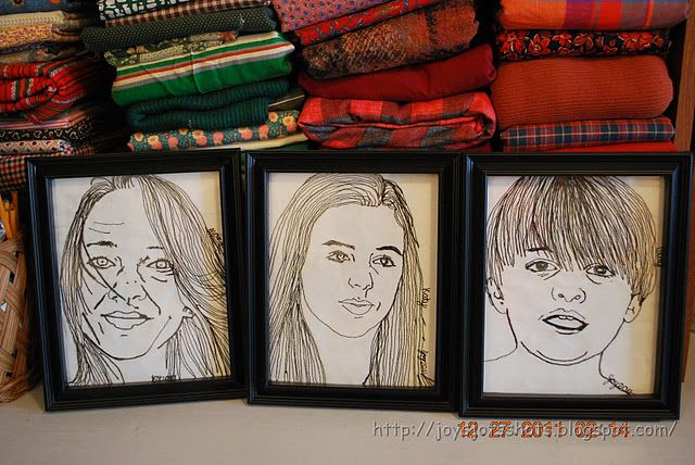 """Learn how to """"thread sketch"""" - machine embroider from a photo"""