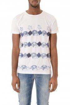 THE ALOHA POCKET STORY T-shirt bianca fantasia per uomo primavera estate 2015