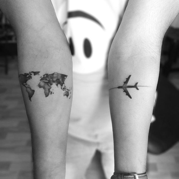 Fly Across the World Travel Tattoo