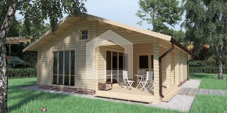całoroczny dom drewniany front
