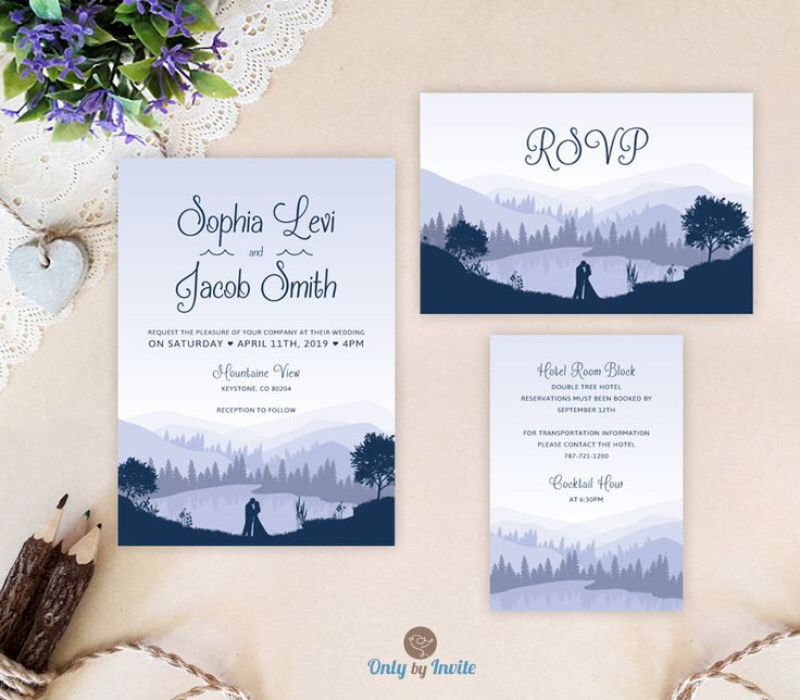 cheap wedding invitation sets invites rsvp card info card mountain wedding invitations - Affordable Wedding Invitation Sets