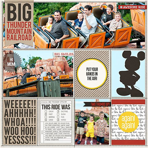 "Disney Digital Project Life page created by Carolee featuring ""Project Mouse: Bundle No. 3 - Character Moments"" by Sahlin Studio & Britt-ish Designs"