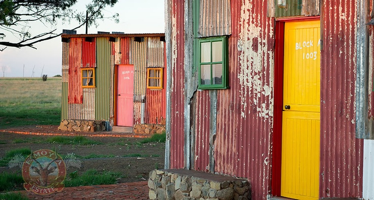 Shanty town team building accommodation at Emoya in Bloemfontein