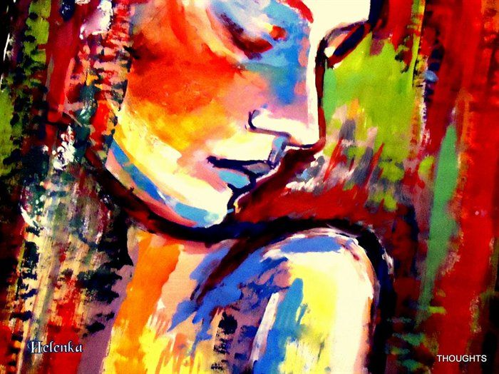 Image result for woman painting abstract