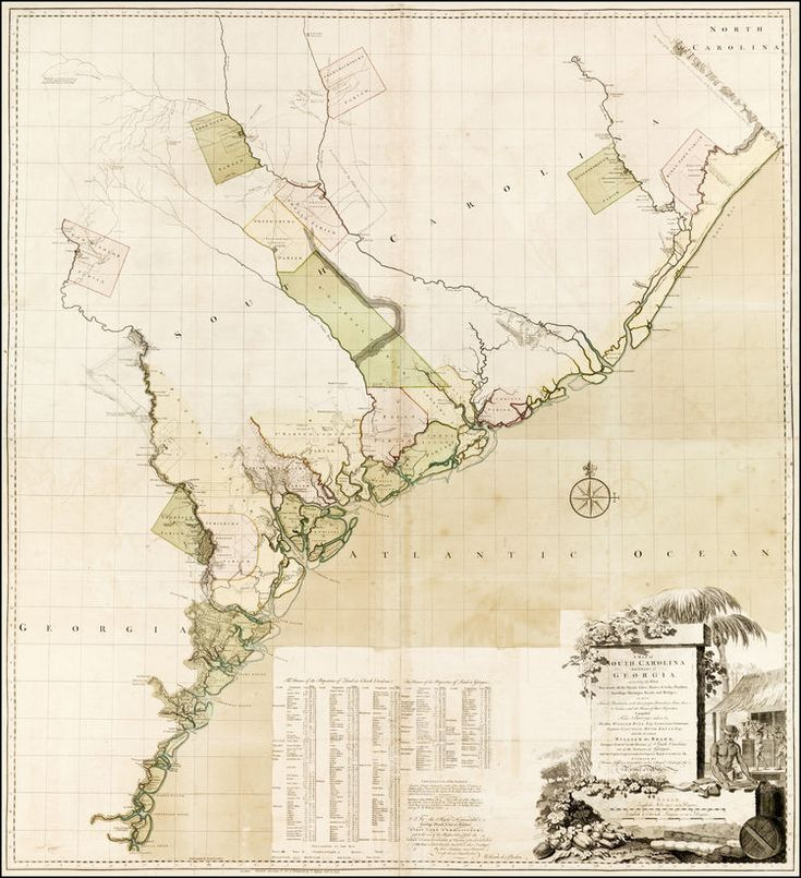 Louisiana Deer Map%0A William Gerard De Brahm  A Map of South Carolina and a Part of Georgia