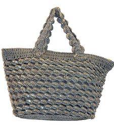 Buy Sequins Crochet Small Handbag | Ash Grey handbag online