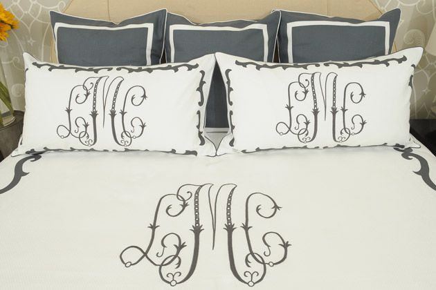 lovely leontine linensBedrooms Linens, Master Bedrooms, Bed Linens, New Bedrooms, Beds Linens, Bedrooms Decor, Leontine Linens, Bedrooms Ideas, Monograms Beds