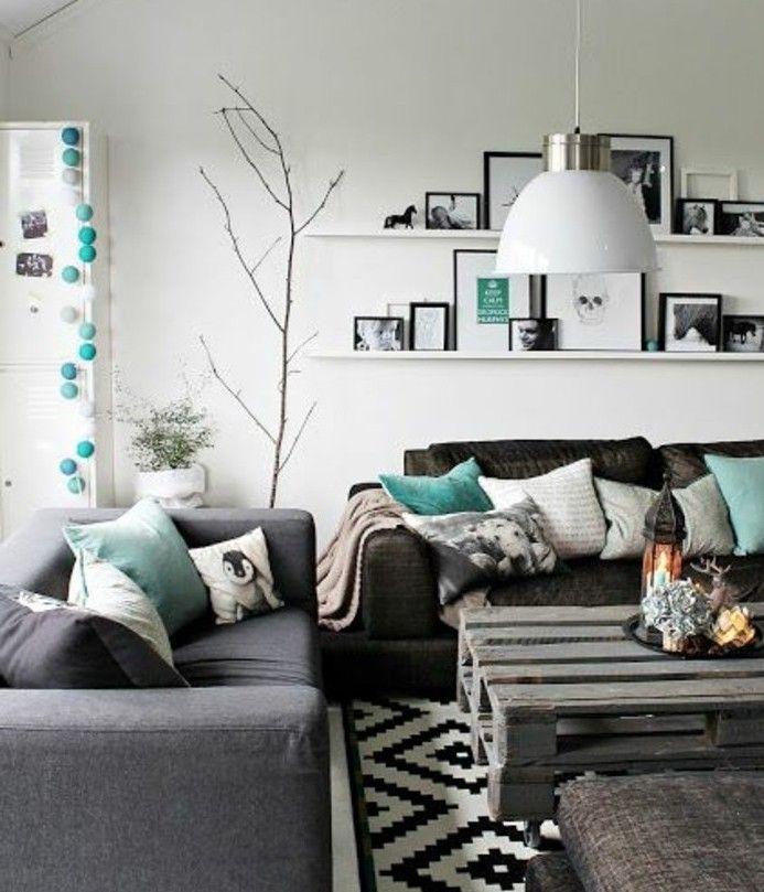 17 best ideas about salon gris on pinterest deco salon contemporary living room furniture and - Deco scandinave salon gris ...