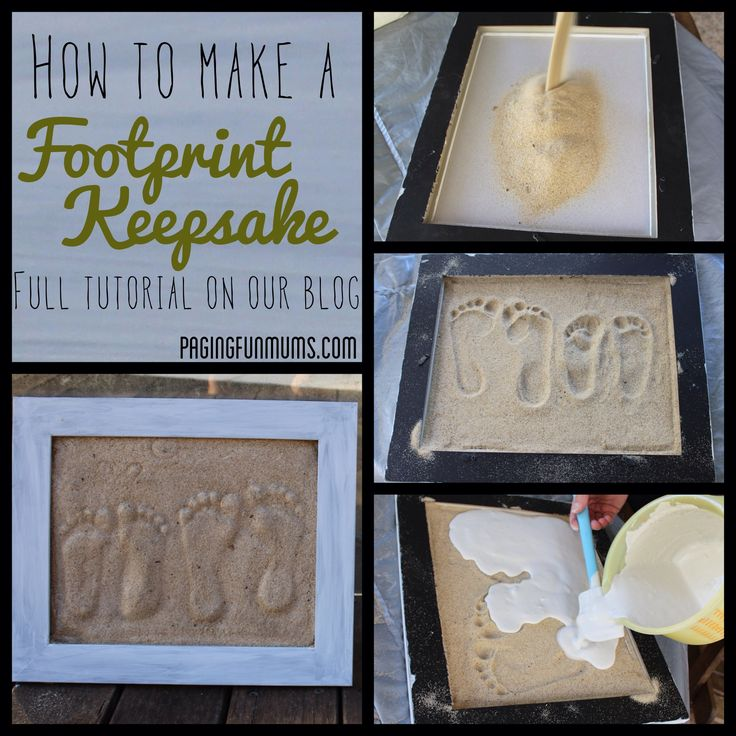 Father's Day Gift! - DIY Plaster Footprints in sand. Great tutorial with step by step instructions.