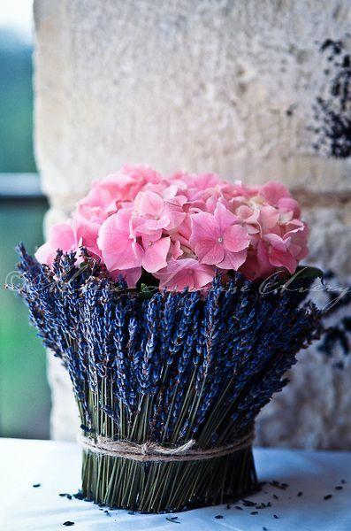(via Flower arrangment of pink hydrangeas … | ~ Beautiful Lavender ~)