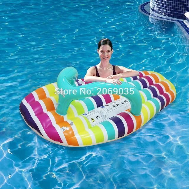 Inflatable Pool Float Seat Swimming Beach Rider Lilo Hammock Air Bed Kids Adults