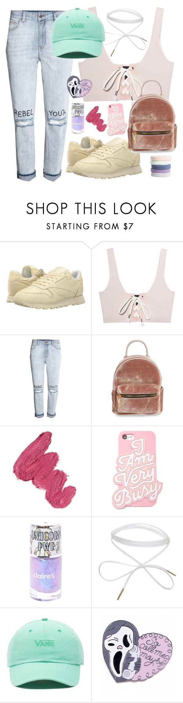 """""""Pastel Outfit"""" by scheylly ❤ liked on Polyvore featuring Reebok Lifestyle, Puma, Street Level, Mermaid Salon, ban.do, Vans and L. Erickson"""