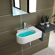 Weiss Keramik Handwaschbecken für Gäste WC  Waschbecken  Waschtisch Bad