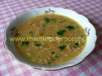 Vločková polévka s vejci