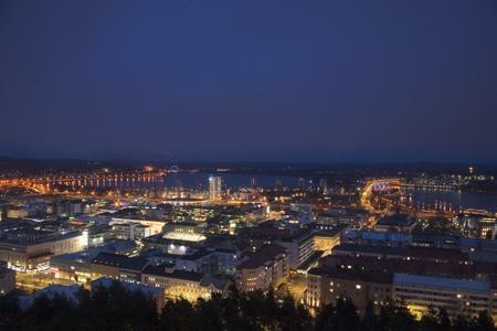 Jyväskylä, Finland Night Skyline