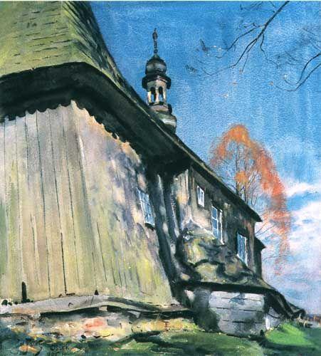 Julian Fałat   <i></i>   watercolour, paper   52.5 x 46.5 cm