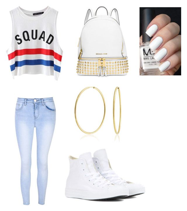 """Squad"" by lola2bravo on Polyvore featuring beauty, Chicnova Fashion, Glamorous, Michael Kors, Bling Jewelry and Converse"