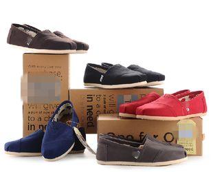 Томас Томс холст обувь пару обуви блестками полосы Чистая лень ступит пряжки плоские туфли - Taobao