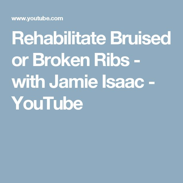 how to fix broken or bruised ribs
