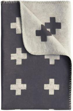 Pia Wallén / Deka Cross Blanket Grey 80x125