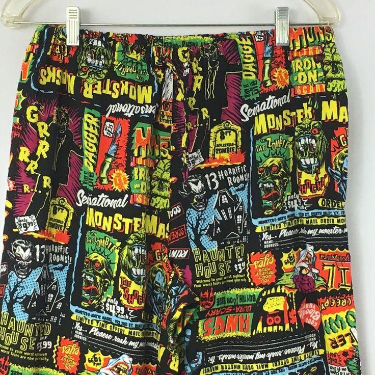 Halloween pajama pants size medium sleepwear bottoms