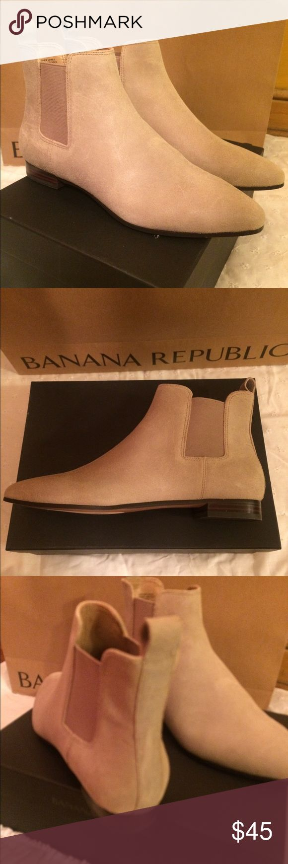 Booties - Banana Republic Brand new in box.  Never worn outside only tried on on doors.  Leather uppers.  Super comfy and easy to wear I have them in two colors. Banana Republic Shoes