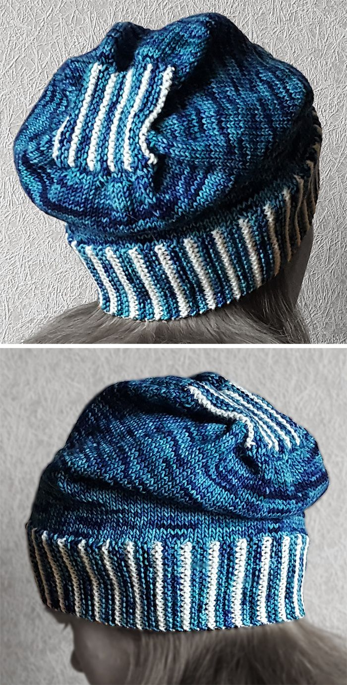 5158322aa175 Free Knitting Pattern for Knit-Only Slouch Hat - Stylish hat with an ...