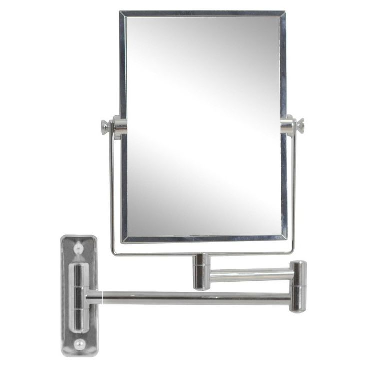 American Imaginations Wall Mount Square Magnifying Mirror