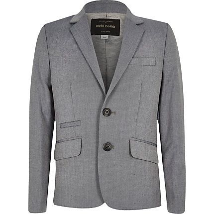 Boys light grey slim suit jacket £40.00