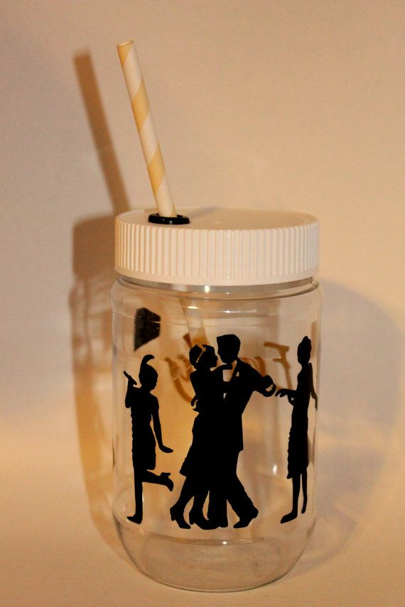 Personalized+Plastic+Mason+Jar+Cups++Great+by+RememberedOnceMore