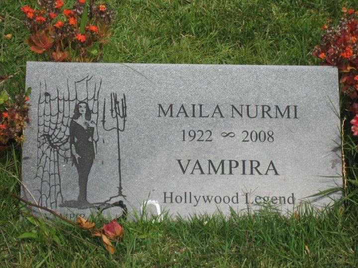 Vampira, Hollywood Legend, Maila Nurmi, television, grave stones
