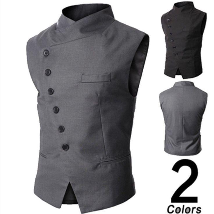 Idée & inspiration Mode Homme Sans Manche Veste Gilet Costume Blouson Blazer Jacket Coat Manteau | eBay