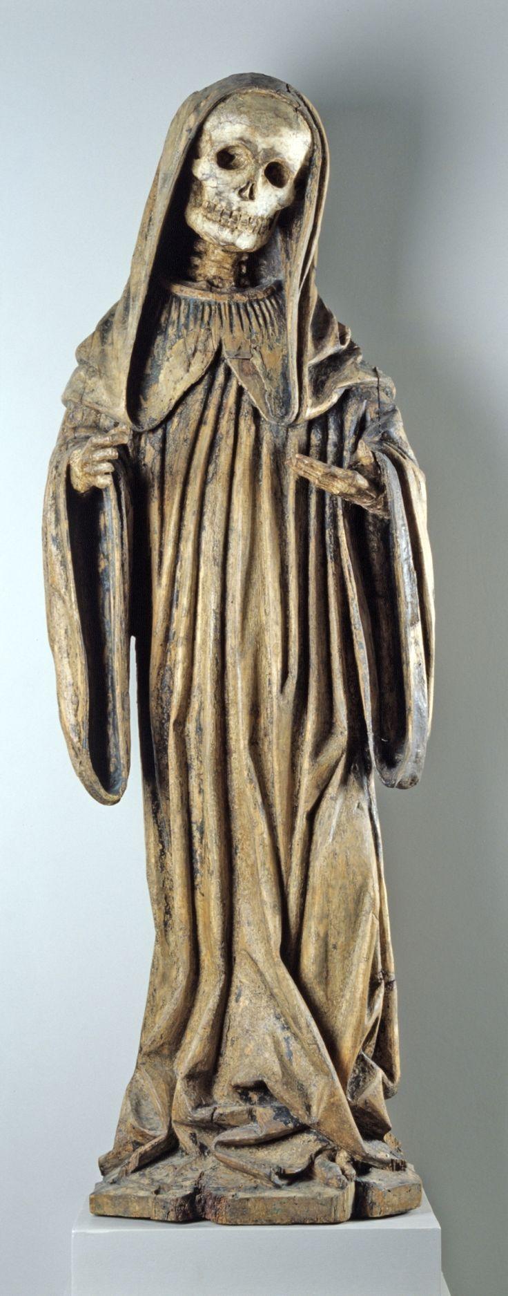 Tod in Mönchskutte: Ende 15. Jahrhundert, Badisches Landesmuseum Karlsruhe.