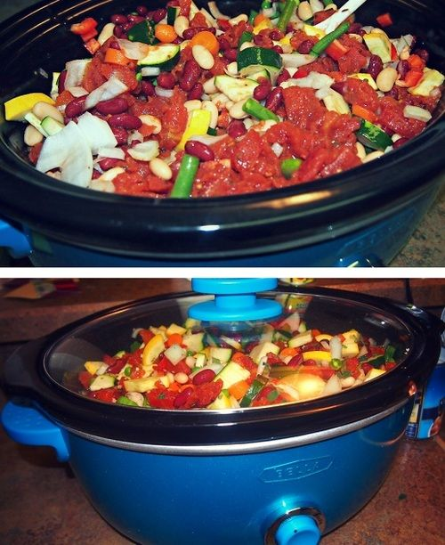 Healthy crock pot minestrone soup