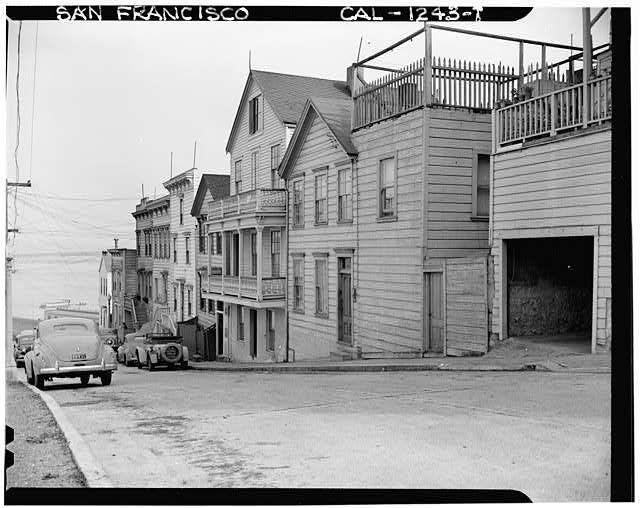 Telegraph Hill (Houses), Alta Street, San Francisco (1940) via Historic American Buildings Survey | A. J. Wittlock, Photographer, Library of Congress