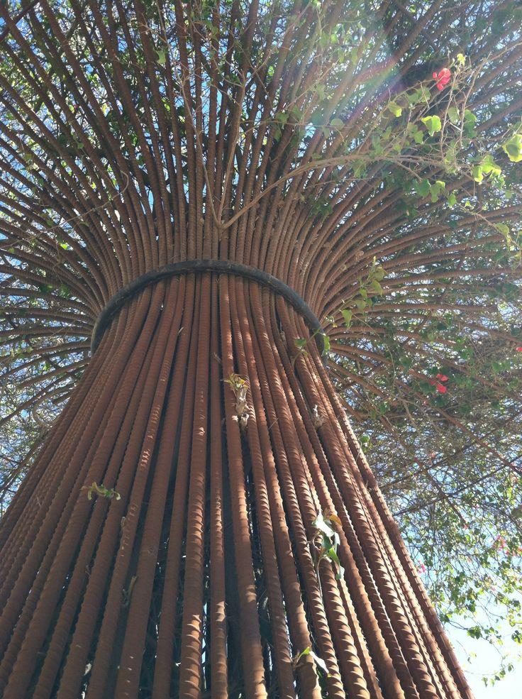Rebar Tree Sculpture Sculptures Metal Tree Wall Art