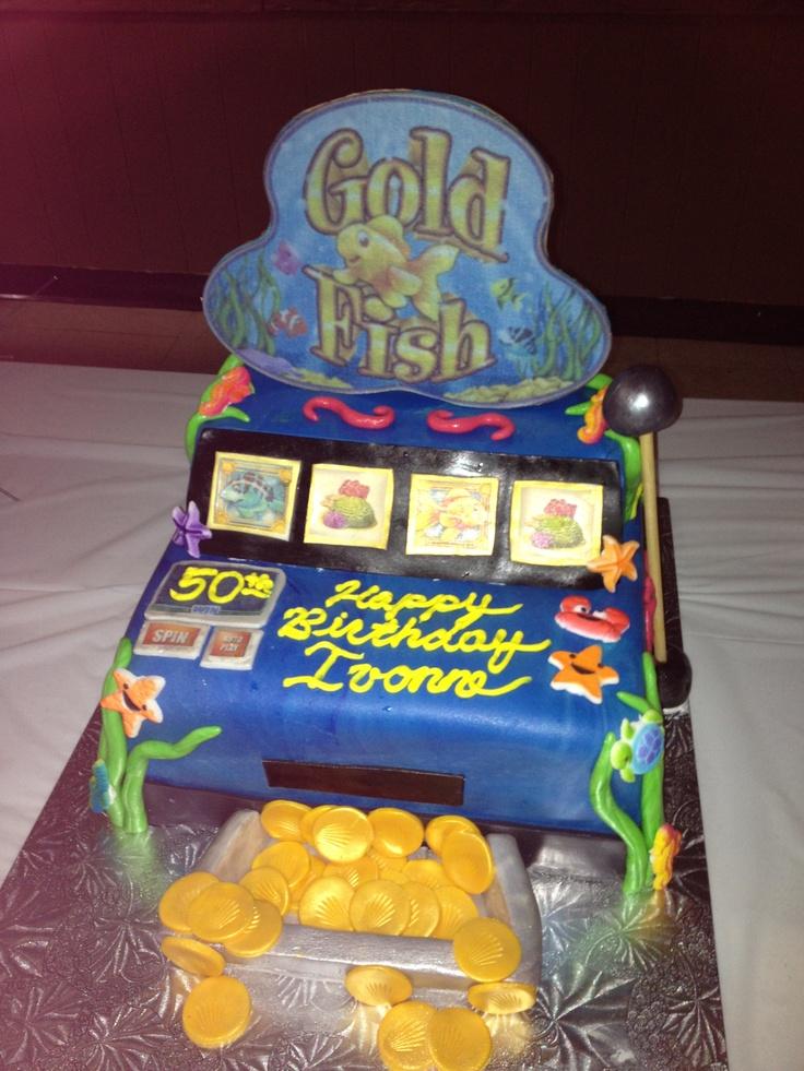 Goldfish slot machine cake.