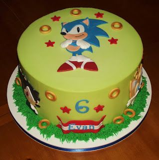 Suzys Sweet Shoppe Sonic The Hedgehog Cake
