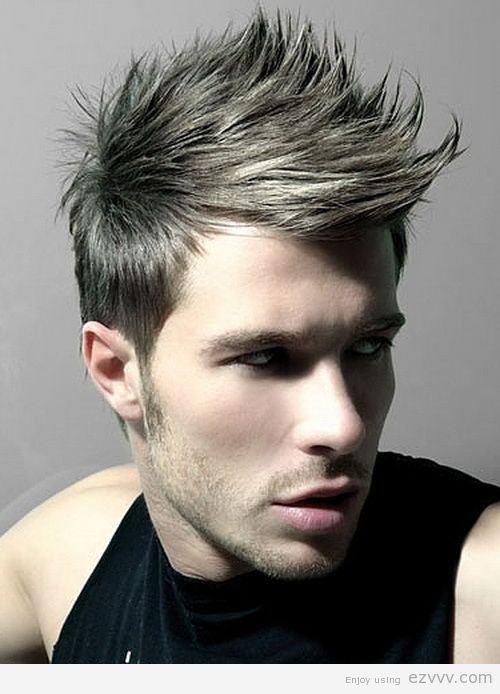 spiky hairstyles for men faux hawk