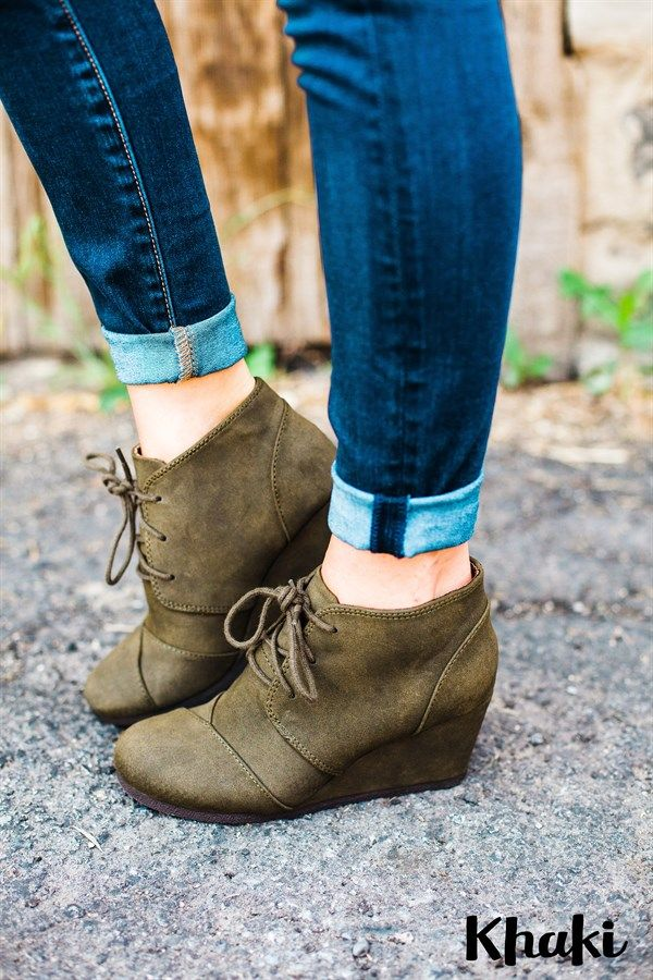 They're back for Fall! Our MUST-HAVE suede wedges offer a comfortable 2.5 inch heel, which feel like you're wearing flats! You can wear them all day long without having sore feet!