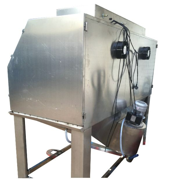 Large Sandblast Cabinet With High Quality Stainless Steel Is Suitable For Wet Abrasive Blasting Largeblastmachine Cabinet Manufacturers Cabinet Manufacturing