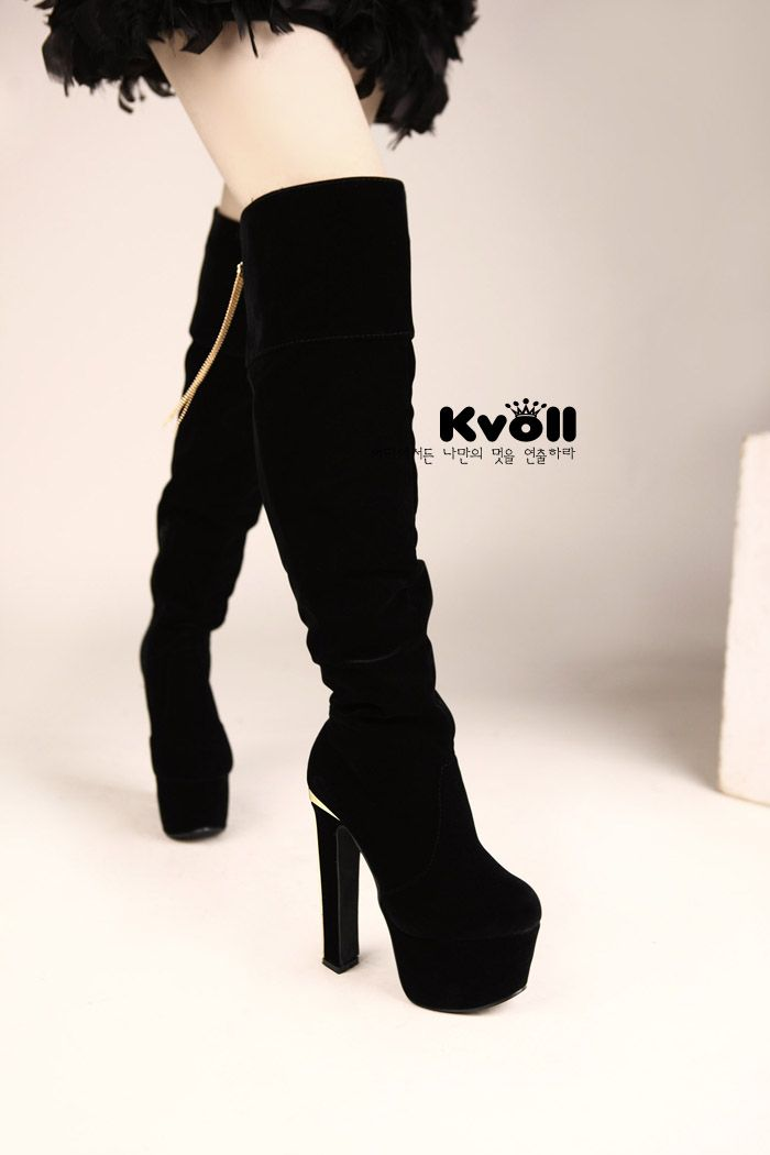 Wholesale Over knee high boots pendant generous vogue ladies shoes X57341 - Lovely Fashion