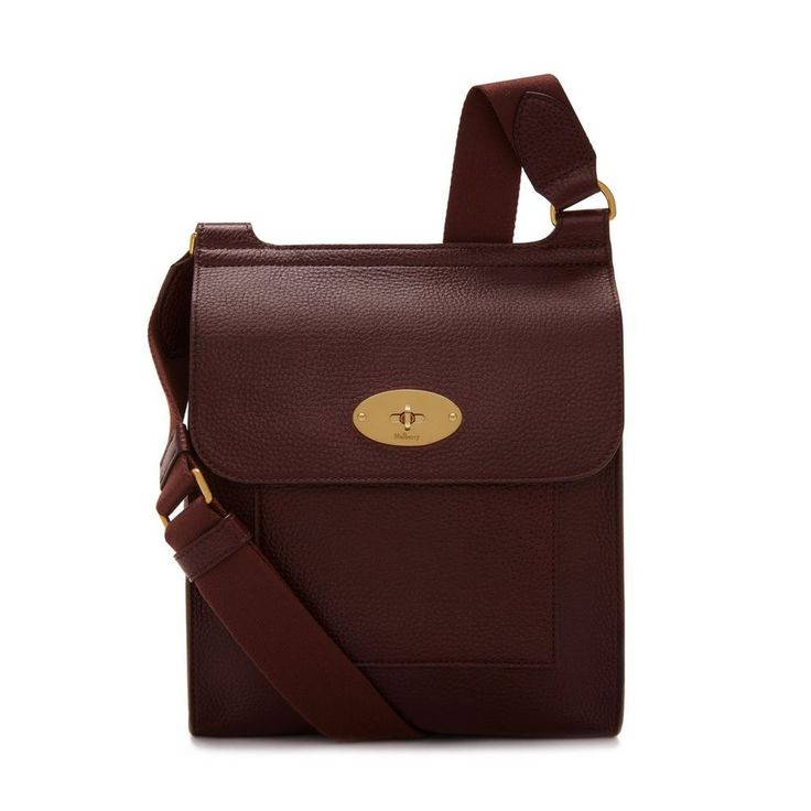 Shop the New Antony in Oxblood Leather at Mulberry.com. The Antony is a classic Mulberry satchel designed in functional shape and unisex style. Thoughtfully equipped, it features an adjustable canvas strap that can be worn across the body or over the shoulder. Instantly recognisable, it is designed with the iconic postman's lock detail. This updated version has a slightly increased base for added space.