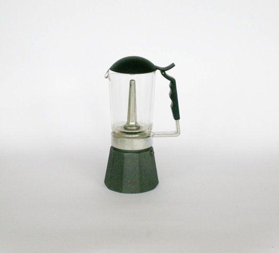 Vinateg machine à café / Coffee Pot verre haut, piètement en Aluminium - 6 tasses
