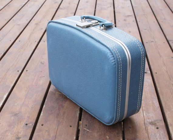 Blue Suitcase Blue Hardshell Small Suitcase by ItsStillLife, $18.95