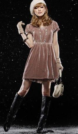 оптом Платье хаки цвета с короткими рукавами