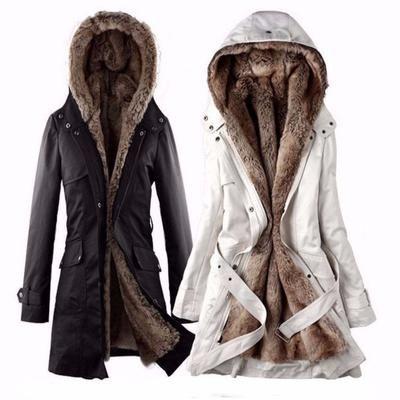 Daisy Dress For Less Jackets Women Faux Fur Hooded Jacket