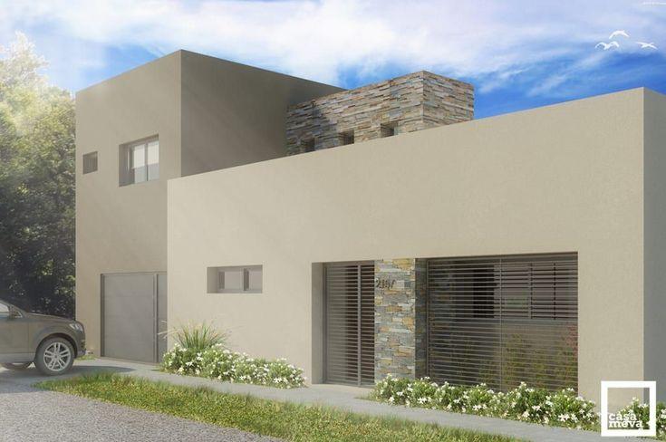 Mirá imágenes de diseños de Casas estilo minimalista: Después l Fachada Principal. Encontrá las mejores fotos para inspirarte y creá tu hogar perfecto. #fachadasmodernas