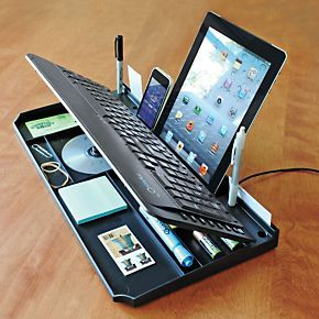 Keyboard Organizer | Outlet Keyboard Organizerby SolutionsWas$29.98Now$19.972.5/5Read all4reviewsWrite a reviewAn end to desktop clutter...a drawer hides in this Keyboard Organizer.I's a full-size keyboard with all the expected functions. But beneath this one is a hidden ...Read More >>
